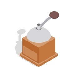 Coffee grinder icon isometric 3d style vector