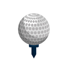 Color ball to play golf icon vector
