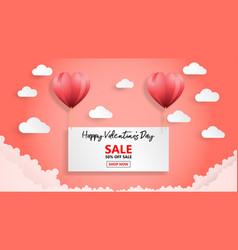 creative valentines day sale background with vector image