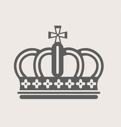 Crown royalty accessory king or queen power symbol vector