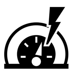 dash board energy icon simple style vector image