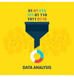 Data Analysis Flat Concept vector image