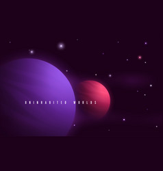 Deep space sci-fi abstract vector
