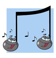 Double Musical Note Singing vector