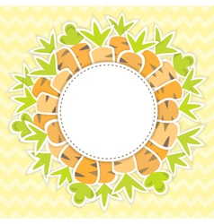 Easter carrots pattern on a yellow vector image