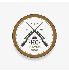 Emblem hunting club vector image