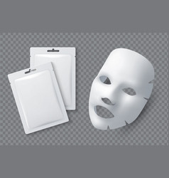 facial cosmetic mask moisturising cotton sheet vector image
