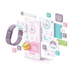fitness and diet app concept vector image