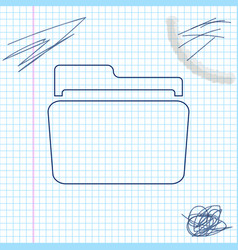 folder line sketch icon isolated on white vector image