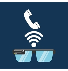 Glasses technology telephone application media vector