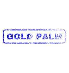Gold palm rubber stamp vector