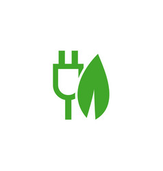 Green charger icon template design vector