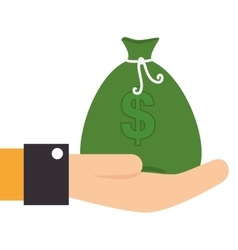 hand human with money isolated icon vector image