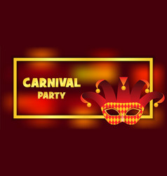 Harlequin party banner realistic style vector