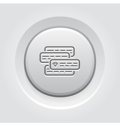 Internet Marketing Icon Grey Button Design vector