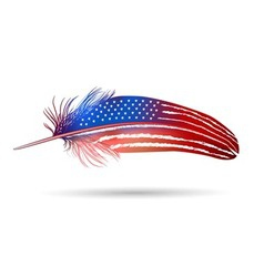 Isolated feather American flag vector