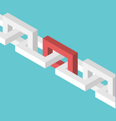 isometric red chain link vector image