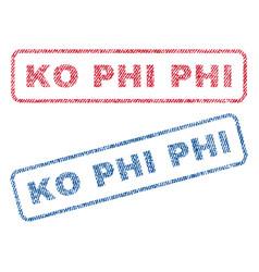 Ko phi phi textile stamps vector