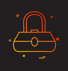 ladies bag icon design vector image