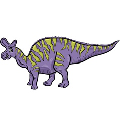 Lambeosaurus dinosaur cartoon vector