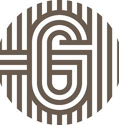 letter line g alphabet design vector image