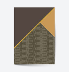 Luxury premium design cover page financial annual vector