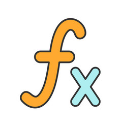 Math function color icon vector