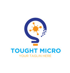 micro creative logo designs vector image