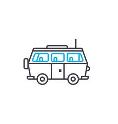 minivan thin line stroke icon minivan vector image