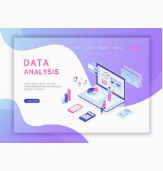 Modern flat design isometric concept data vector