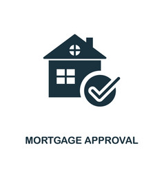 mortgage approval icon line style icon design vector image