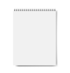 Notebook mockup isolated vector