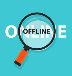 Online offline concept business analysis vector