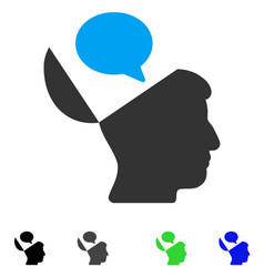 Open mind opinion flat icon vector