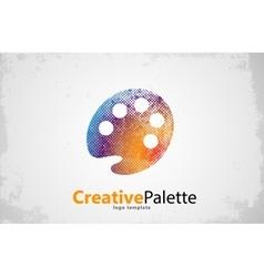 Palette icon color symbol art logo vector