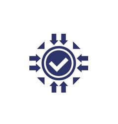 Positive impact icon on white vector