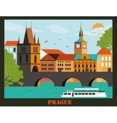 Pragua city vector