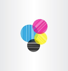 printing color background circle vector image