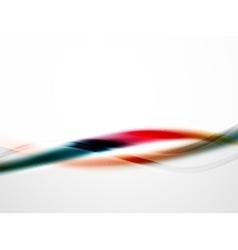 Rainbow color glossy silk elegant wave vector