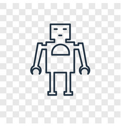 robot toy concept linear icon isolated on vector image