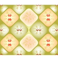 Seamless background with patterns in rhombuses vector image