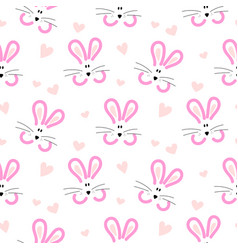 seamless pattern for baby with cute rabbits vector image