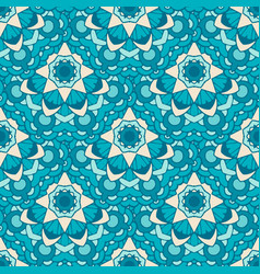 seamless pattern morrocan ornament floral textile vector image