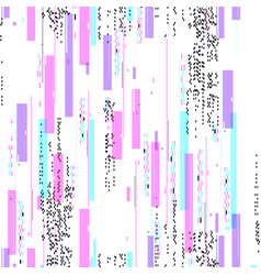 Seamless pattern with glitch distortion effect vector