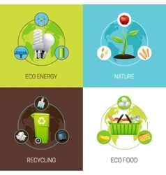Set of ecology concept vector