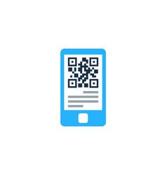 smartphone barcode logo icon design vector image