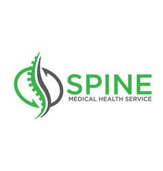 Spine restore and rehabilitation logo designs vector