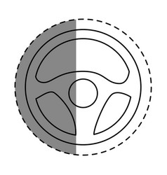 Steering wheel car icon vector