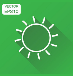 sun icon business concept sun with ray pictogram vector image