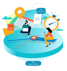 Time management planning events vector